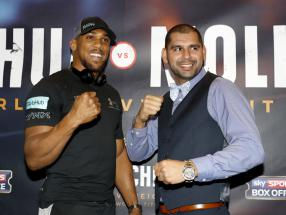 Joshua mocks Chisora and Whyte over table throwing antics